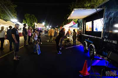 The new age gaming video game trailer at an event in riverside california